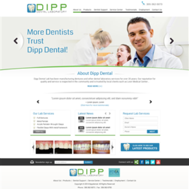 Dental Lab Website Design