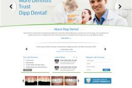 Dental lab website design