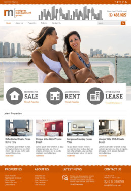Miami real estate web design