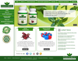 Healthcare and supplement website design