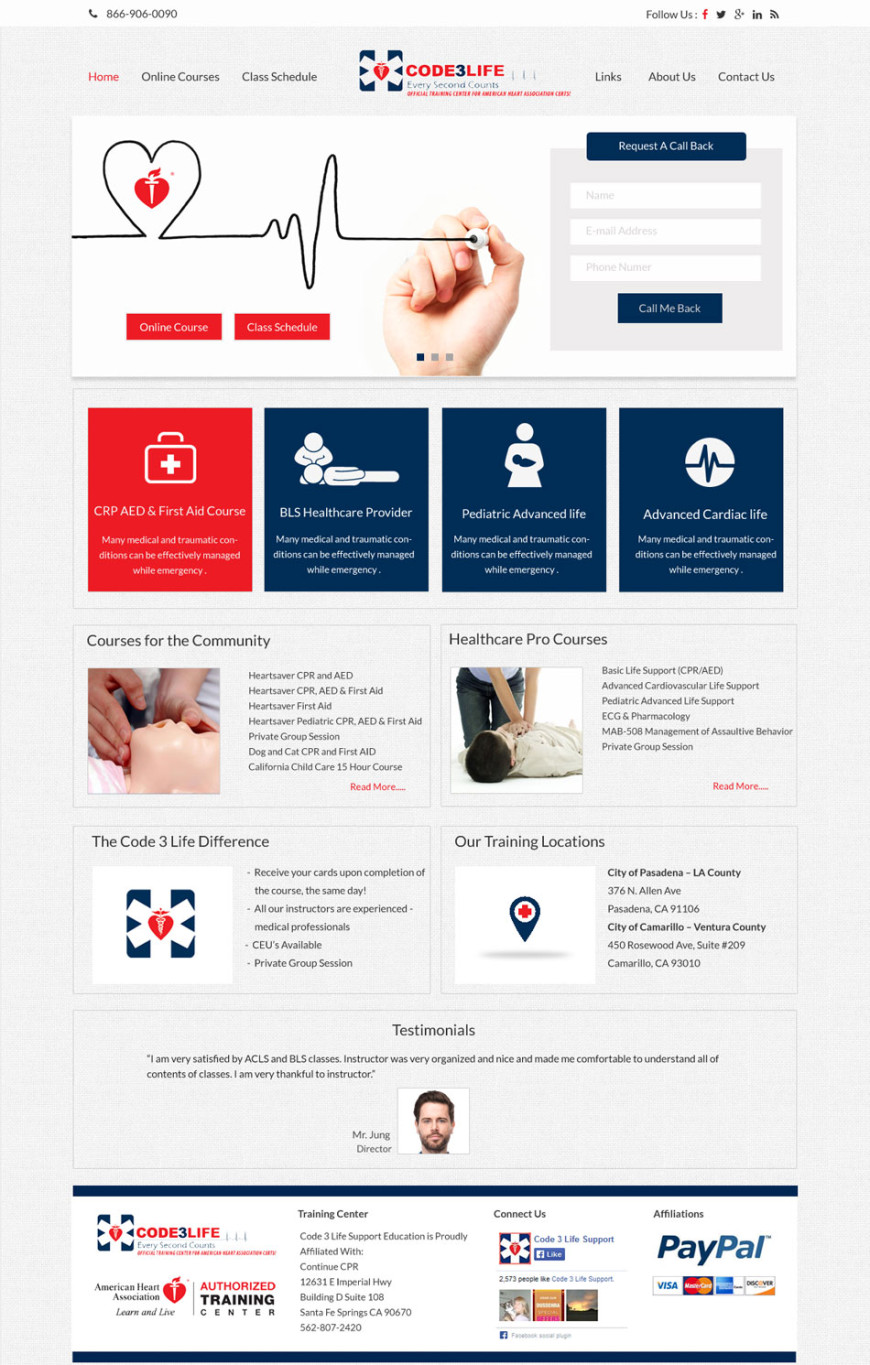 Medical School Web Design