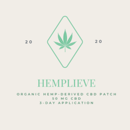 Hemplieve CBD patch conceptual